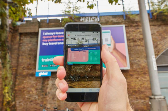 trainline, iPhone, app, AI, byte, outdoor, ads, transform, departure, boards, AR